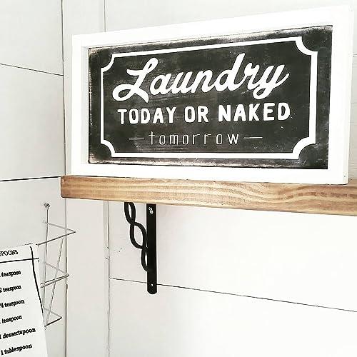 Amazon.com: Farmhouse Laundry Decor | Laundry Sign | Laundry Room ...