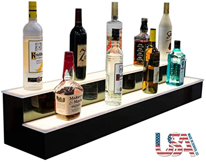 Amazon Com Customized Designs 48 2 Tier Back Bar Liquor Display