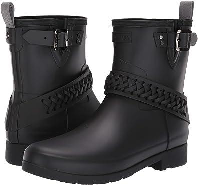 3fe6cc4c8a0 Amazon.com   Hunter Womens Refined Biker Boot Woven Strap   Shoes