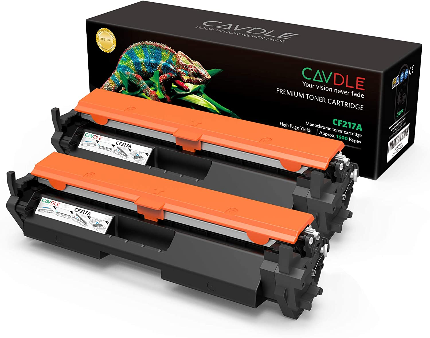 CAVDLE Compatible Toner Cartridge Replacement for HP 17A CF217A Toner for HP Laserjet Pro MFP M130fw M130nw M130fn M130a M102w M102a M130 M102 Printer (2PK)