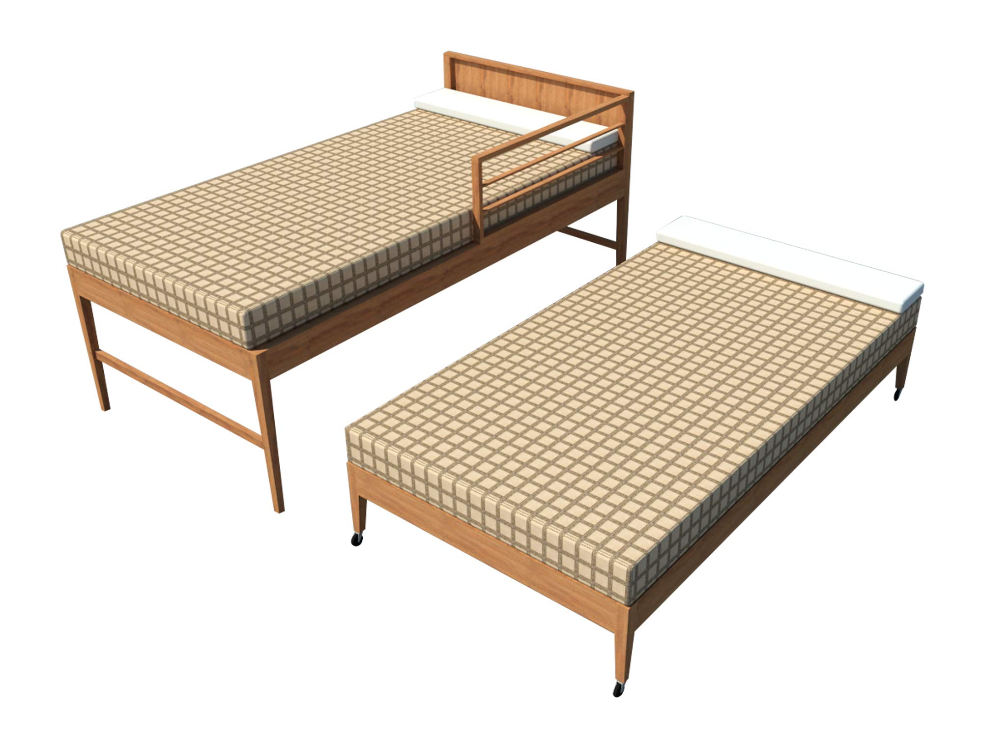 Trundle Bed Plans DIY Children Daybed Kids Roll Away Guest Bed Sleeper Furniture