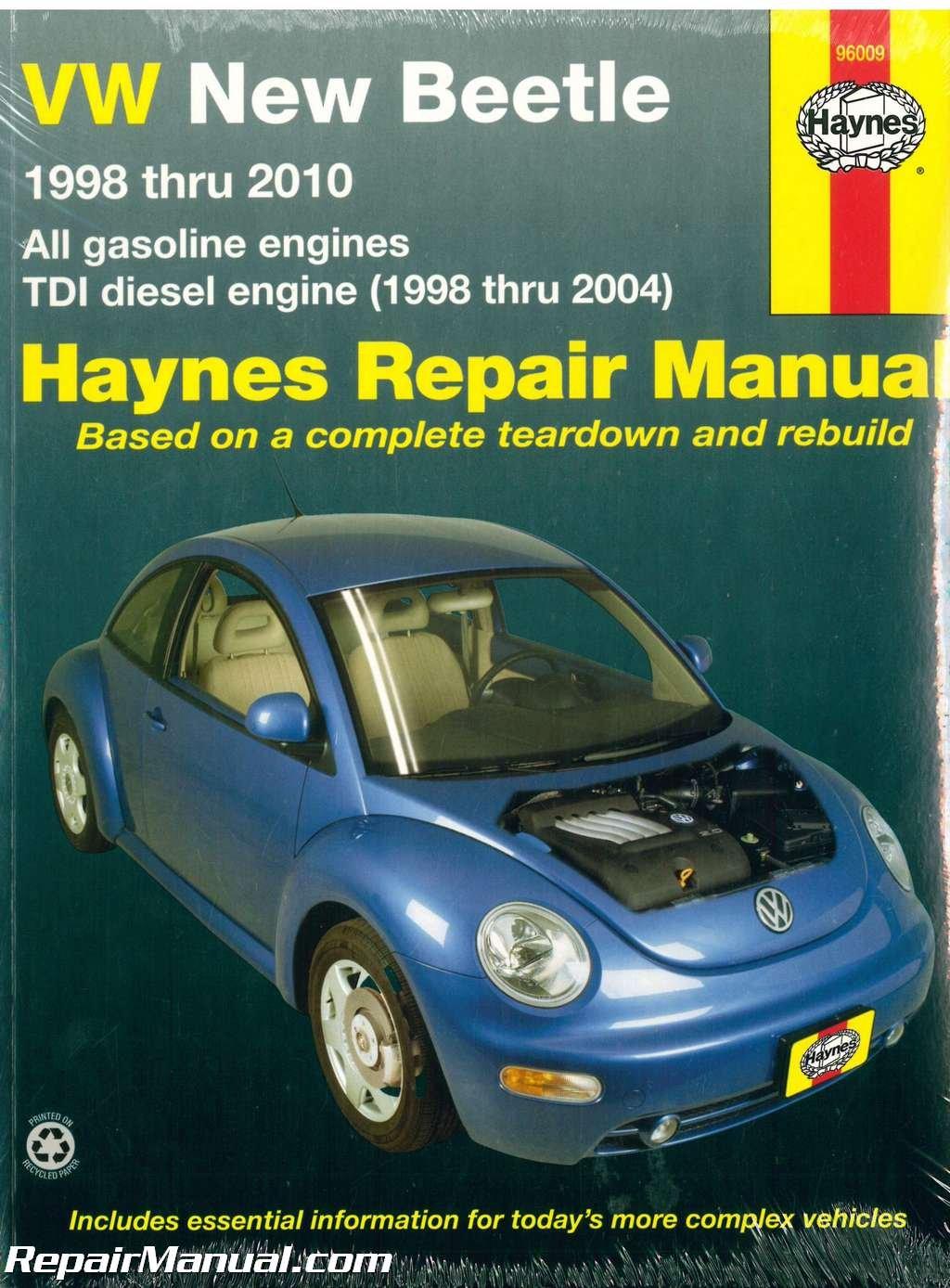 H96009 Volkswagon VW New Beetle 1998-2010 Haynes Repair Manual:  Manufacturer: Amazon.com: Books