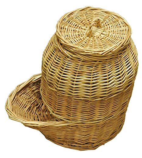 Perfect Selections Wicker Onion Storage Hopper Basket