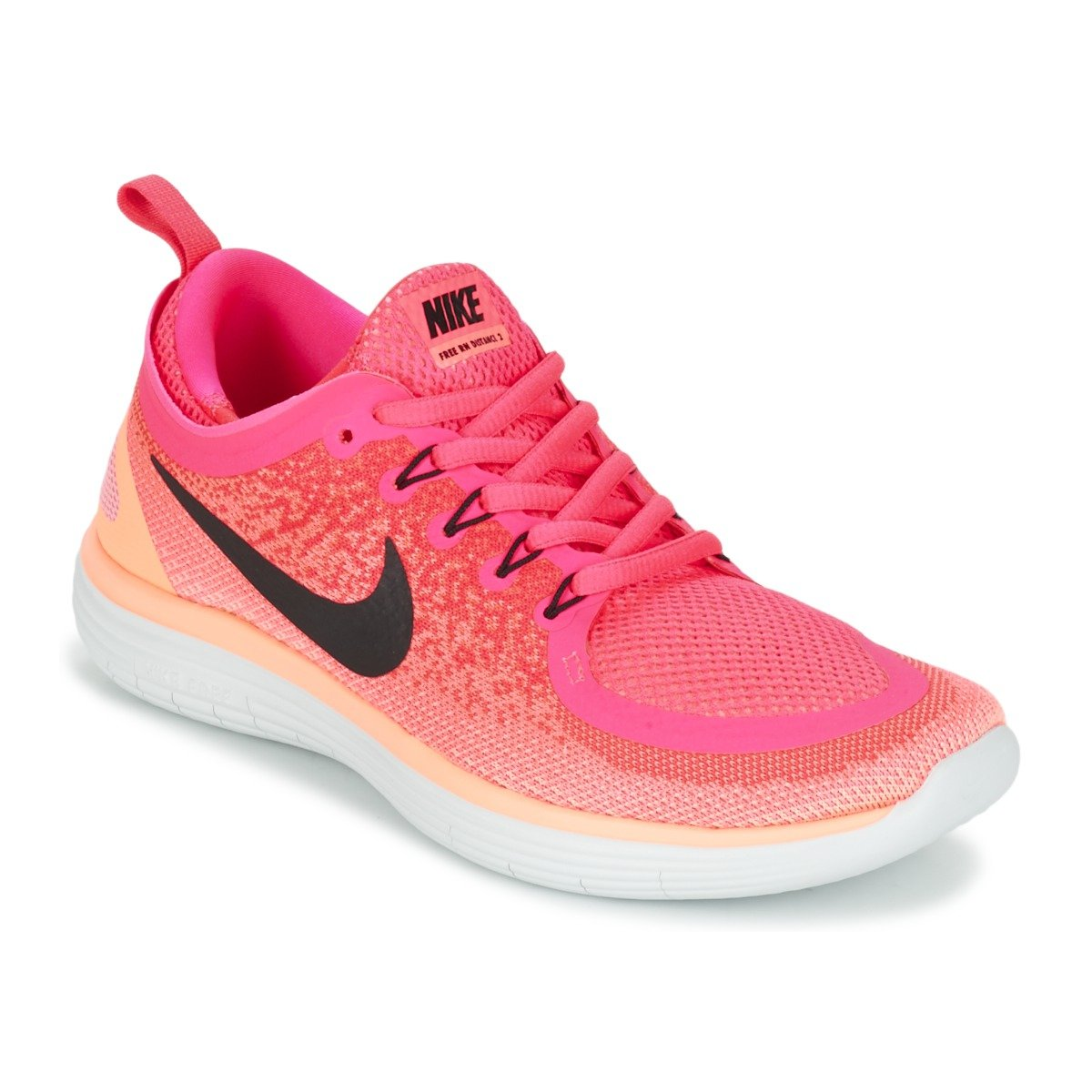 Nike Women's Free Rn Distance 2 Running Shoe B073NG2882 5 M US|Racer Pink/Black-lava Glow-hot Punch