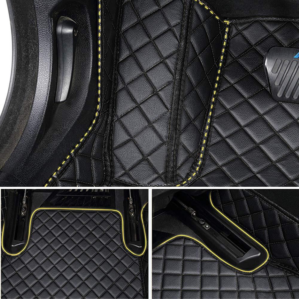 Leesville Artificial Leather Floor Mats for Honda Civic,10th Generation Sedan//Civic 2016-2019 Floor Mats,Full Surrounded Waterproof CAR Floor Mats Honda Civic Leather Mats