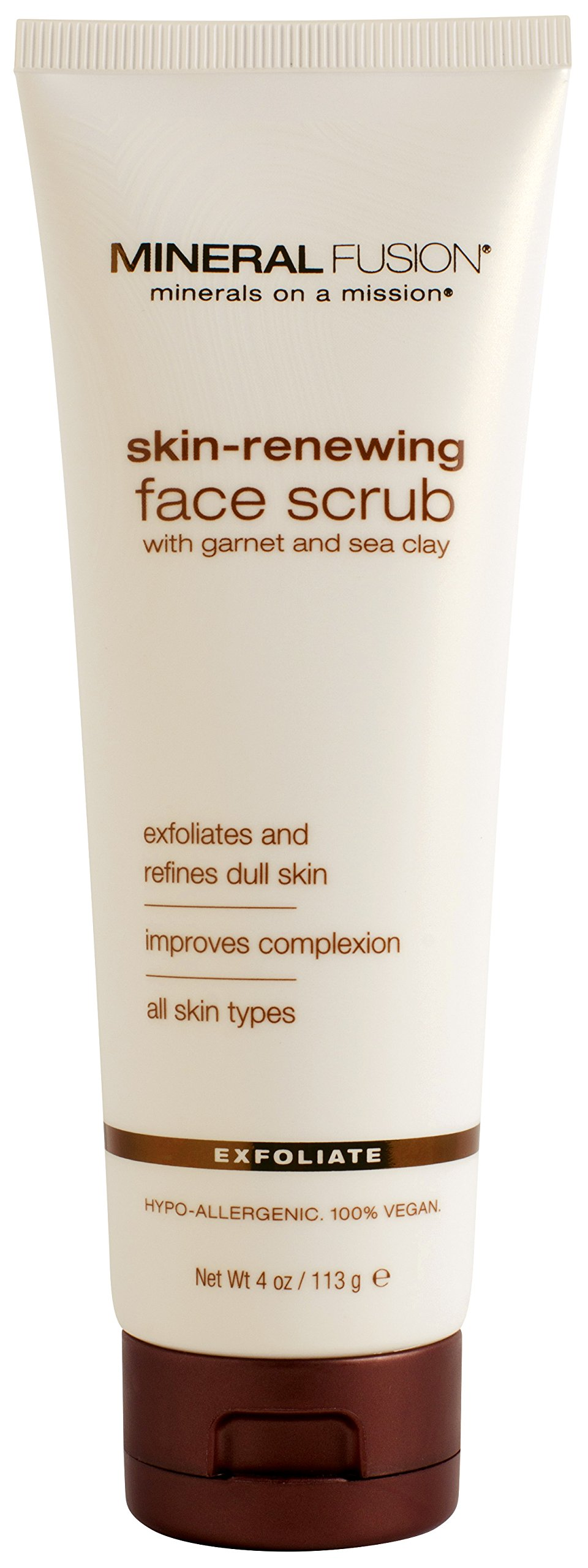 Mineral Fusion Face Scrub, Skin Renewing, 4 Ounce