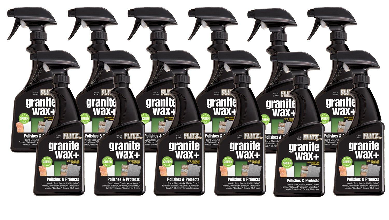 Flitz GRX 22806-12A Granite Wax Plus, 16 oz. Spray Bottle, 12-Pack