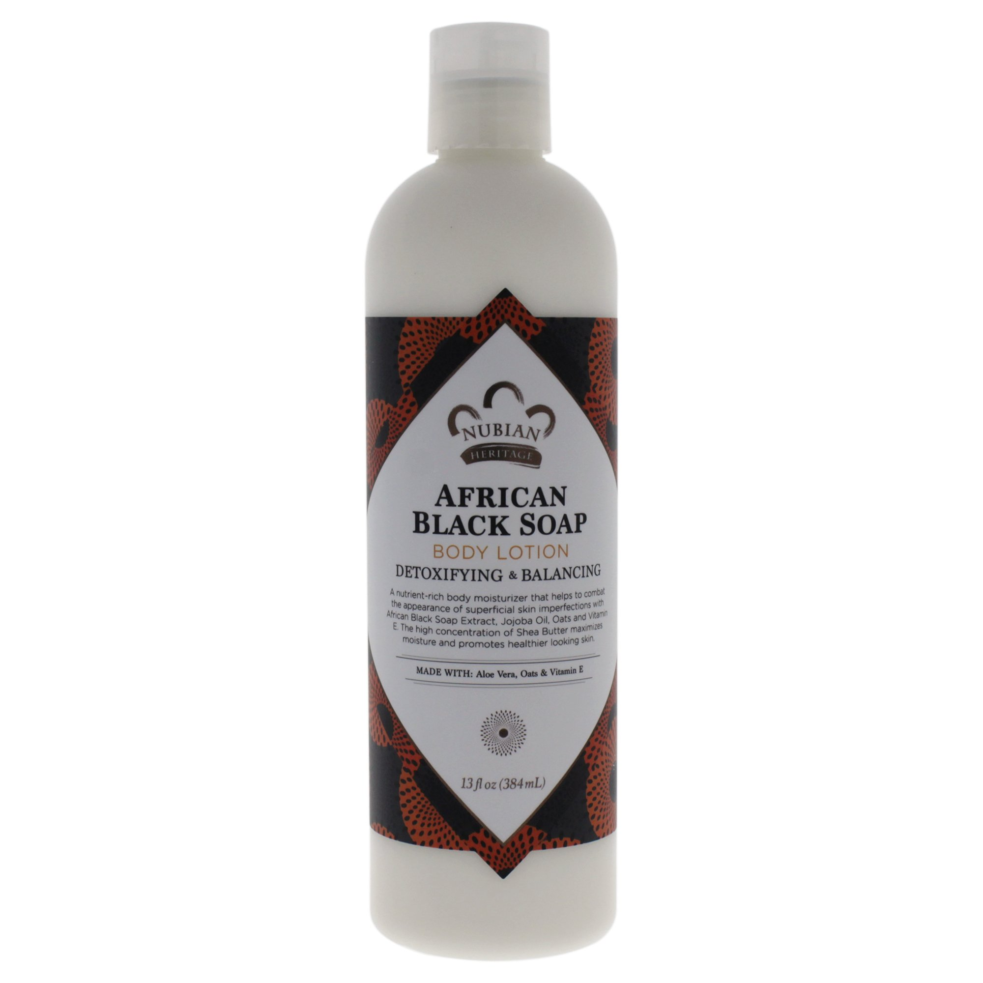 Nubian Heritage Lotion, African Black Soap, 13 Fluid Ounce