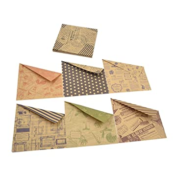 Bastelpapier Vintage ynuth 60 blätter origamipapier bastelpapier doppelseitig