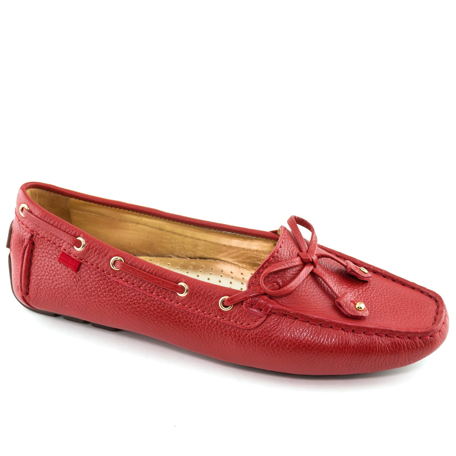 Marc Joseph New York Women's Cypress Hill Red Grainy Driver Loafer 7.5