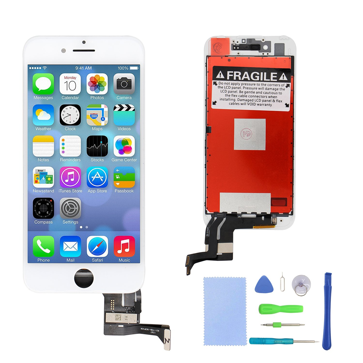 Amazon.com: iPhone 7 Plus Screen Replacement White LCD Display 3D Touch Screen Digitizer Frame Assembly Full Set with Repair Tools for iPhone 7 Plus (5.5 ...