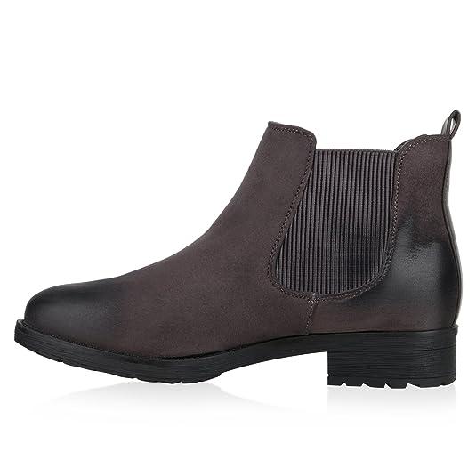 Damen Stiefeletten Chelsea Boots Freizeit Schuhe 145832 Schwarz Cabanas 38 Flandell sXwoR8