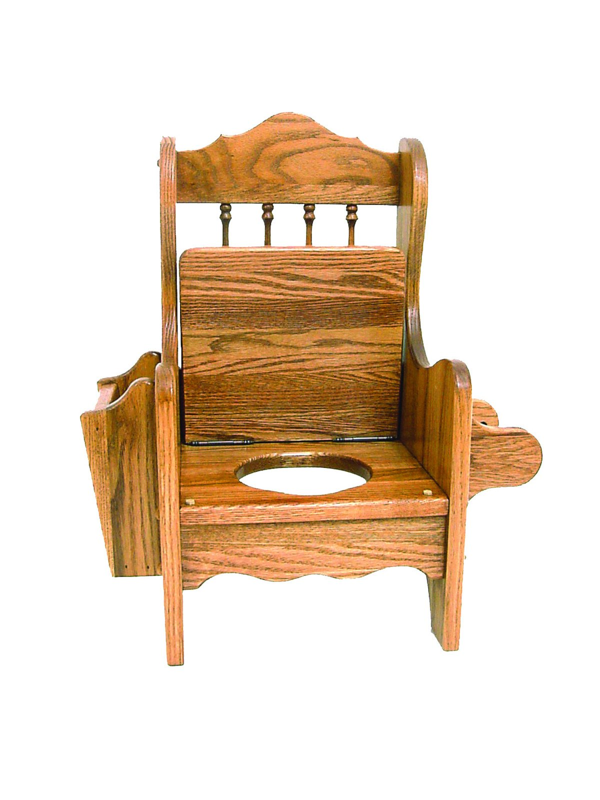 Child's Oak Potty Chair with Lid - Amish Made in USA