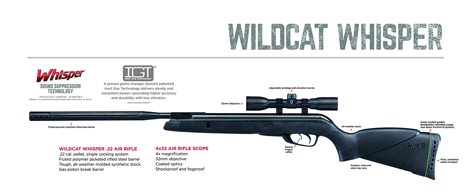 Gamo Wildcat Whisper Air Rifles Sports Outdoors Rifle Parts Diagram Engine Car And Component