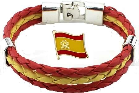 Tanto Badges Pulsera de la Bandera de España e Insignia del Pin de la Bandera de España: Amazon.es: Joyería