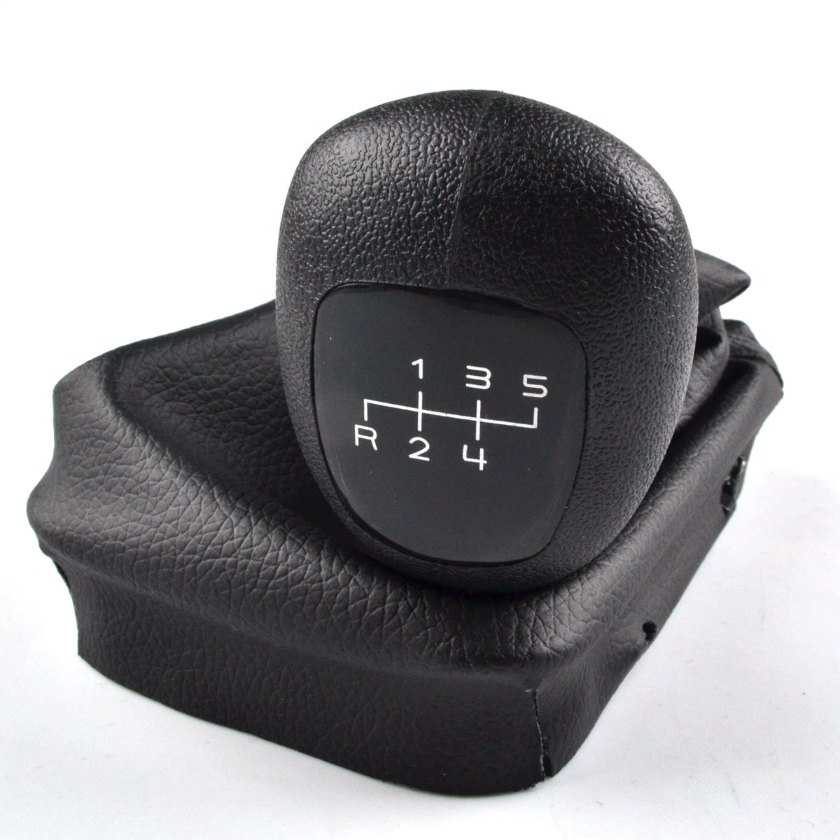 RunQiao 5 Gang Schaltknauf mit Schaltsack /& Rahmen Plug Play Komplett Set