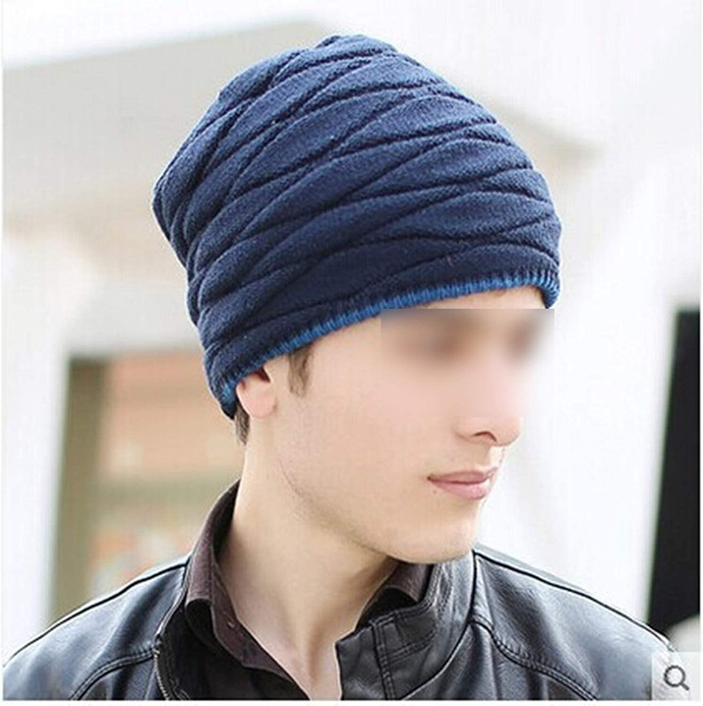 Unisex Add Velvet Beanies Warm Knitted Hat Man and Women Hat Elastic Styles Cap Beret