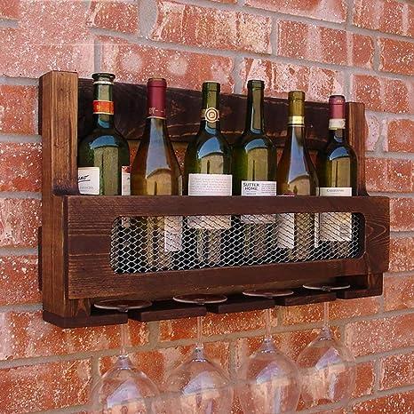 MJK Estante para Botellas de Vino, gabinete para Vino de 6 ...