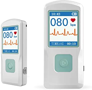 Facelake FL10 Portable ECG/EKG Monitor with Bluetooth for for iOS and Android