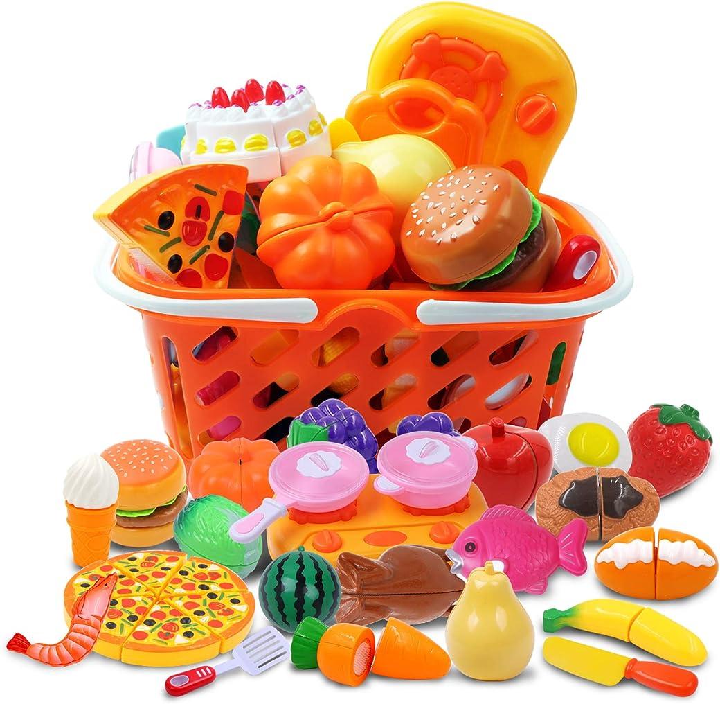 DigHealth 037 juguete de cocina 34 Piezas Alimentos de Juguete
