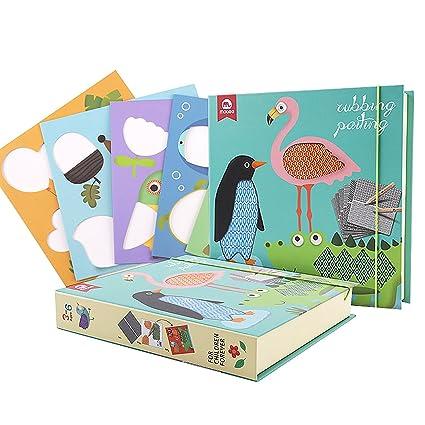 Quadri creativi di sfregamento per bambini carte dipinte