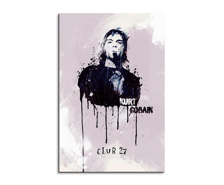 Kurt Cobain 90x 60cm Keilrahmenbild Kunstbild Aquarell Art Wandbild ...