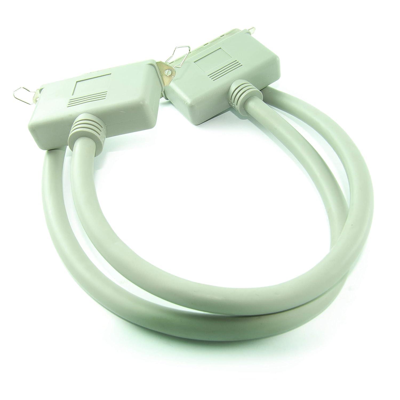 Cable de extensi/ón de 1 m SCSI-1 de 50 Pines Centronic Macho a Hembra CDL Micro Color Beige