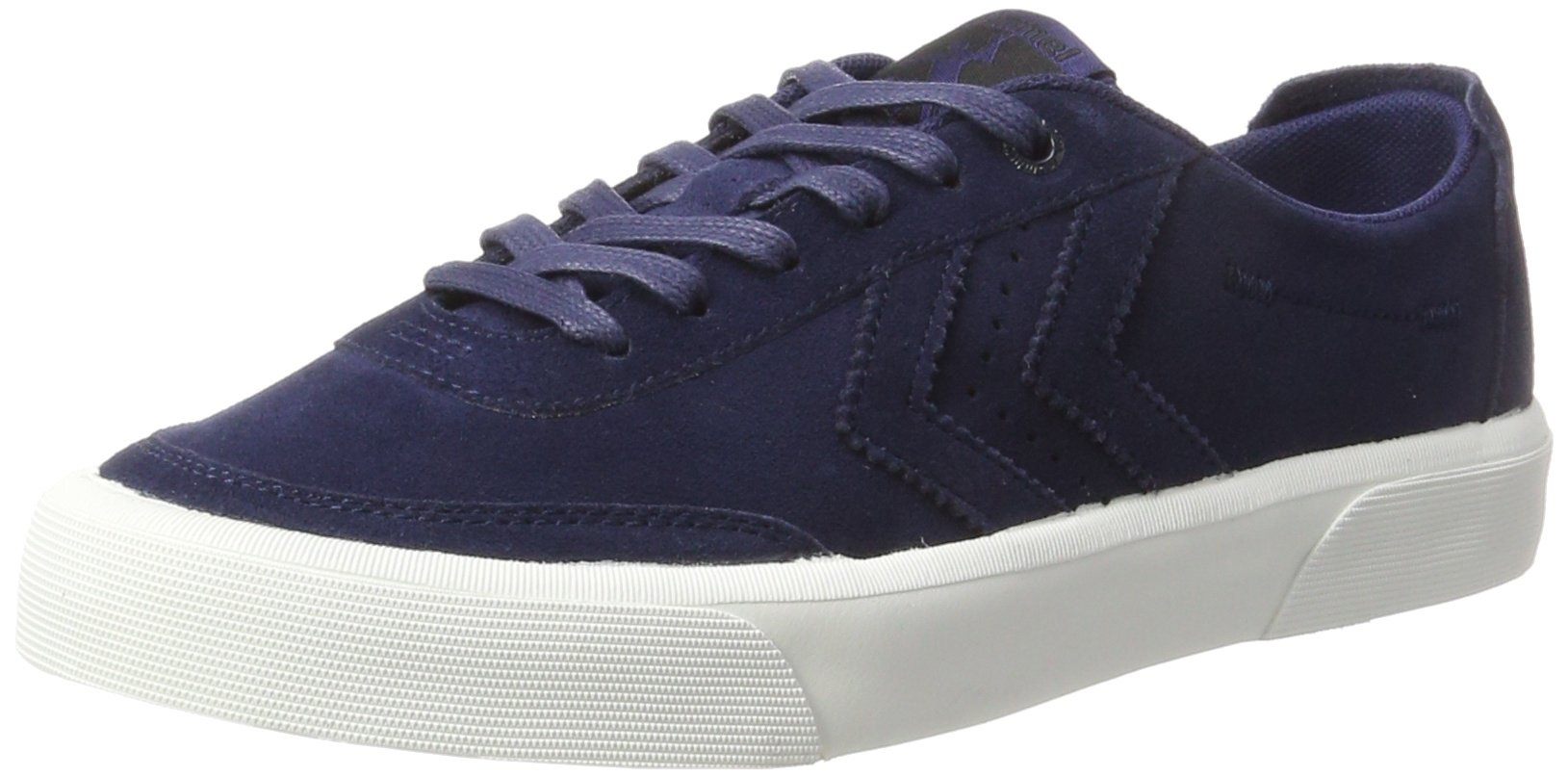 Hummel Unisex Adults' Stockholm Suede Low Trainers, Blue (Peacoat 7666), 9 UK