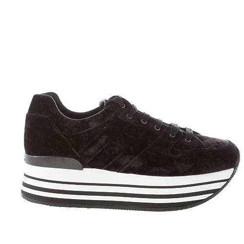 Hogan Donna Maxi H222 Sneaker in Velluto Nero Color Nero