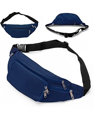 9446543d96 SAVFY Fanny Pack with 4-Zipper Pockets