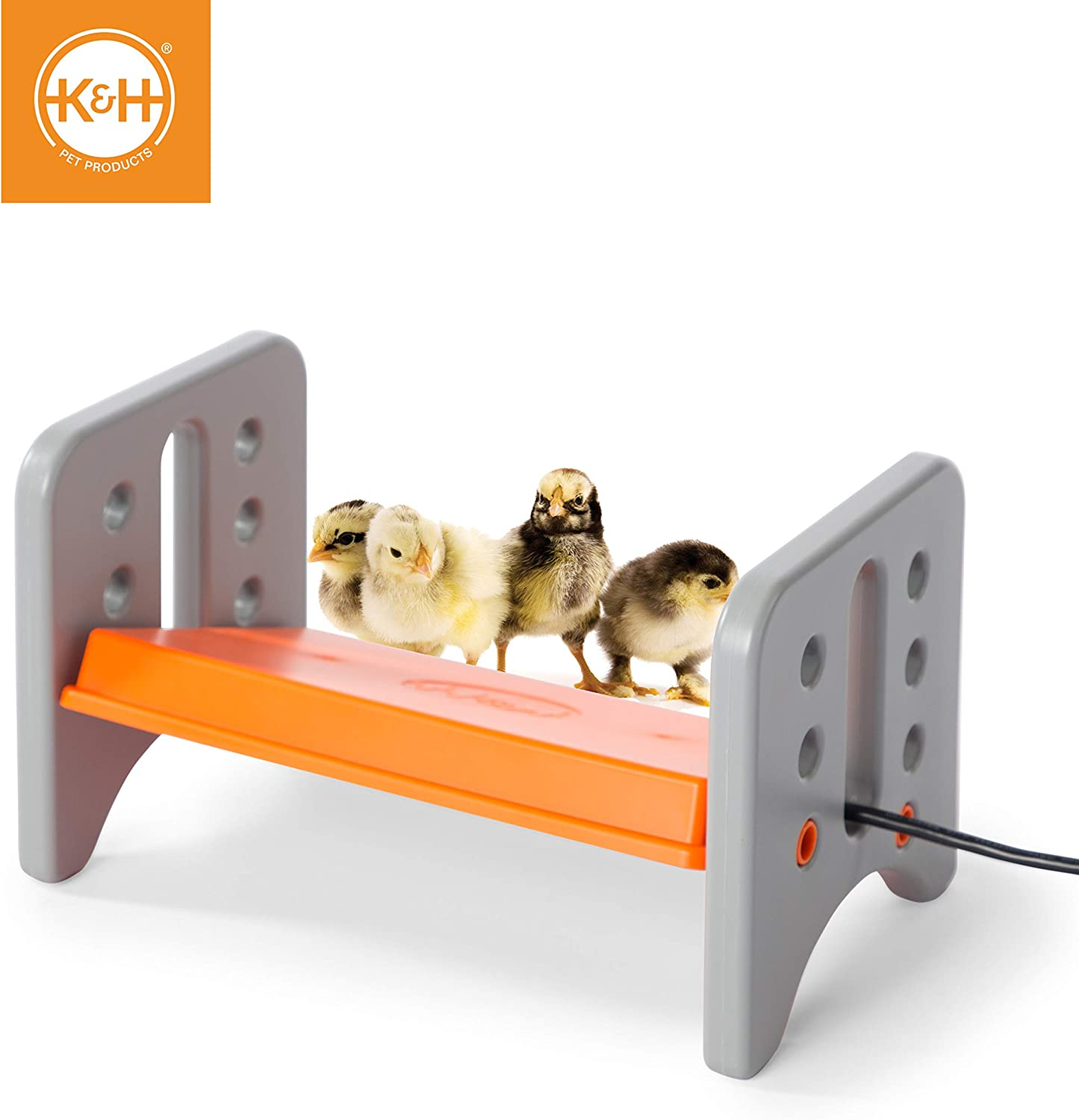 Amazon Com K H Pet Products 100213615 Thermo Poultry Brooder For Newly Hatched Chicks And Ducklings 8 X 13 5 X 8 Gray Orange Garden Outdoor
