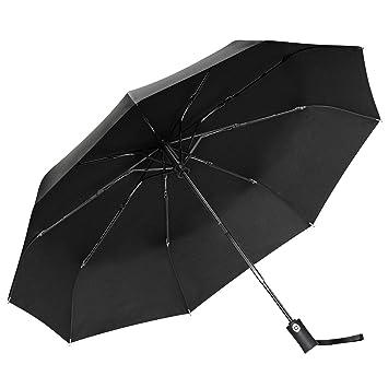 bas prix b23f3 e462d Parapluie Pliant, Gritin Parapluie Pliable Automatique Coupe-vent avec 9  Baleines 210T Tissu Compact Parapluie de Voyage Ouverture et Fermeture ...