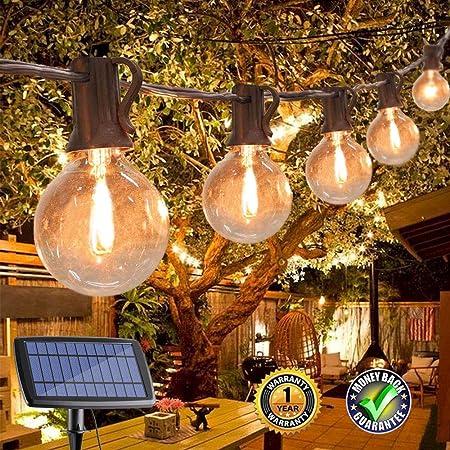 6x Solar Powered Hanging Light Bulbs Garden Solar Lights Clear