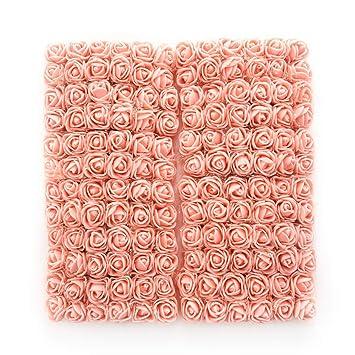 Amazon.com: Ramo de flores artificiales Mini rosas de espuma ...