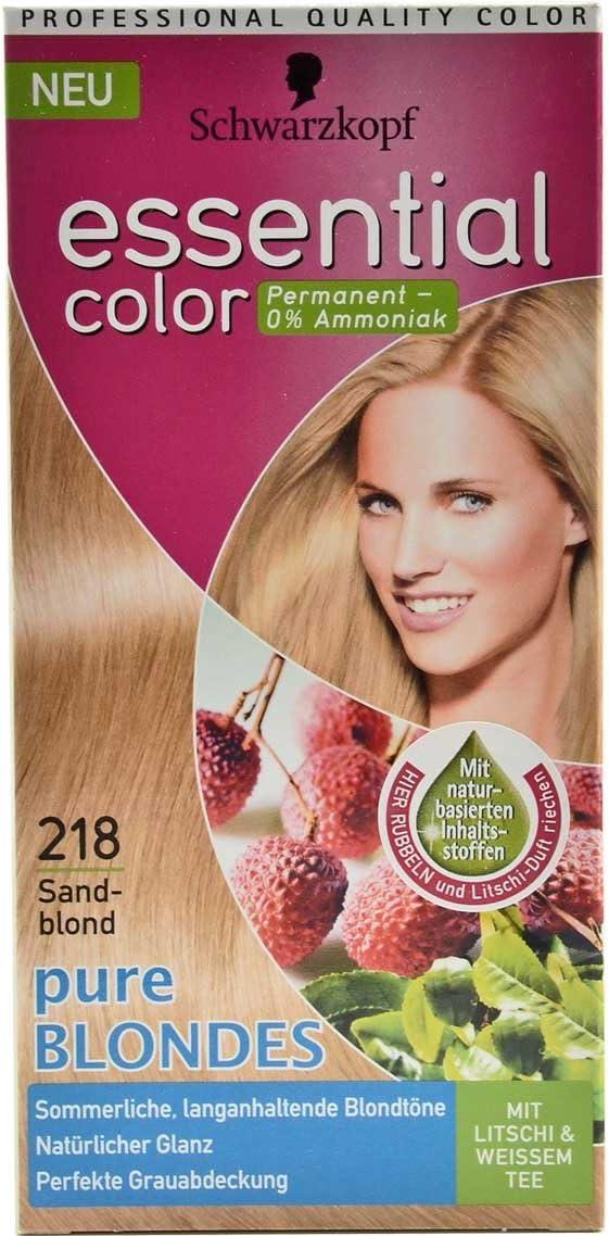 Tinte para el pelo de Schwarzkopf Essential, color 218, rubio arena