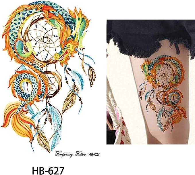 Dragón Atrapasueños Tatuaje Tatuajes Coloridos hb627 Tatuajes de ...