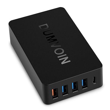 Quick Charge 2.0 & USB Type-C cargador ,Dumvoin Multi Puerto USB Charger Cargador rápido Cargador Adaptador de ...