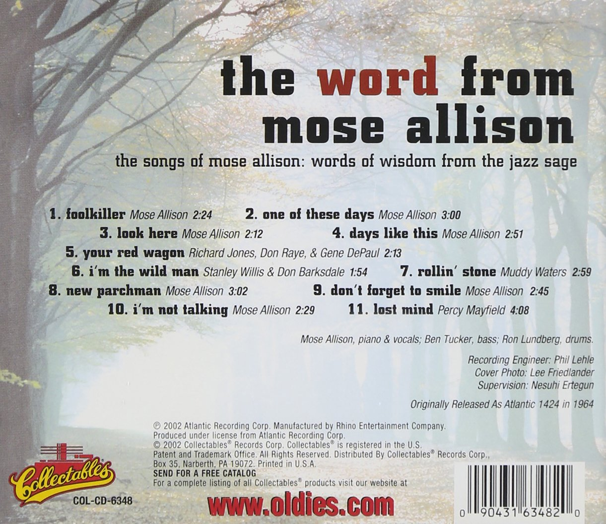 Word from Mose Allison: Mose Allison: Amazon.es: Música