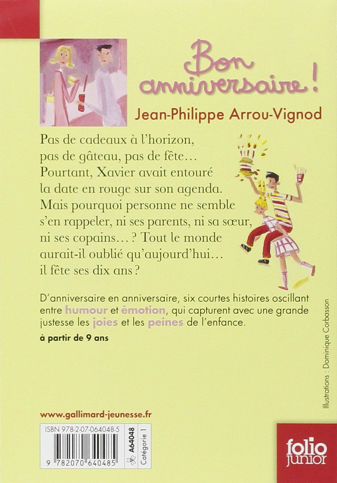 Amazon Fr Bon Anniversaire Jean Philippe Arrou Vignod Livres