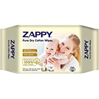 Zappy Pure Dry Cotton Wipes 80s, 80 count