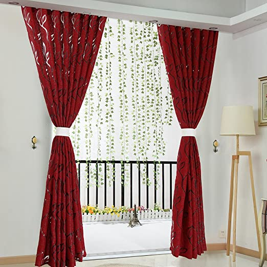 Amazon.com: Beyonds cortinas transparentes para sala de ...