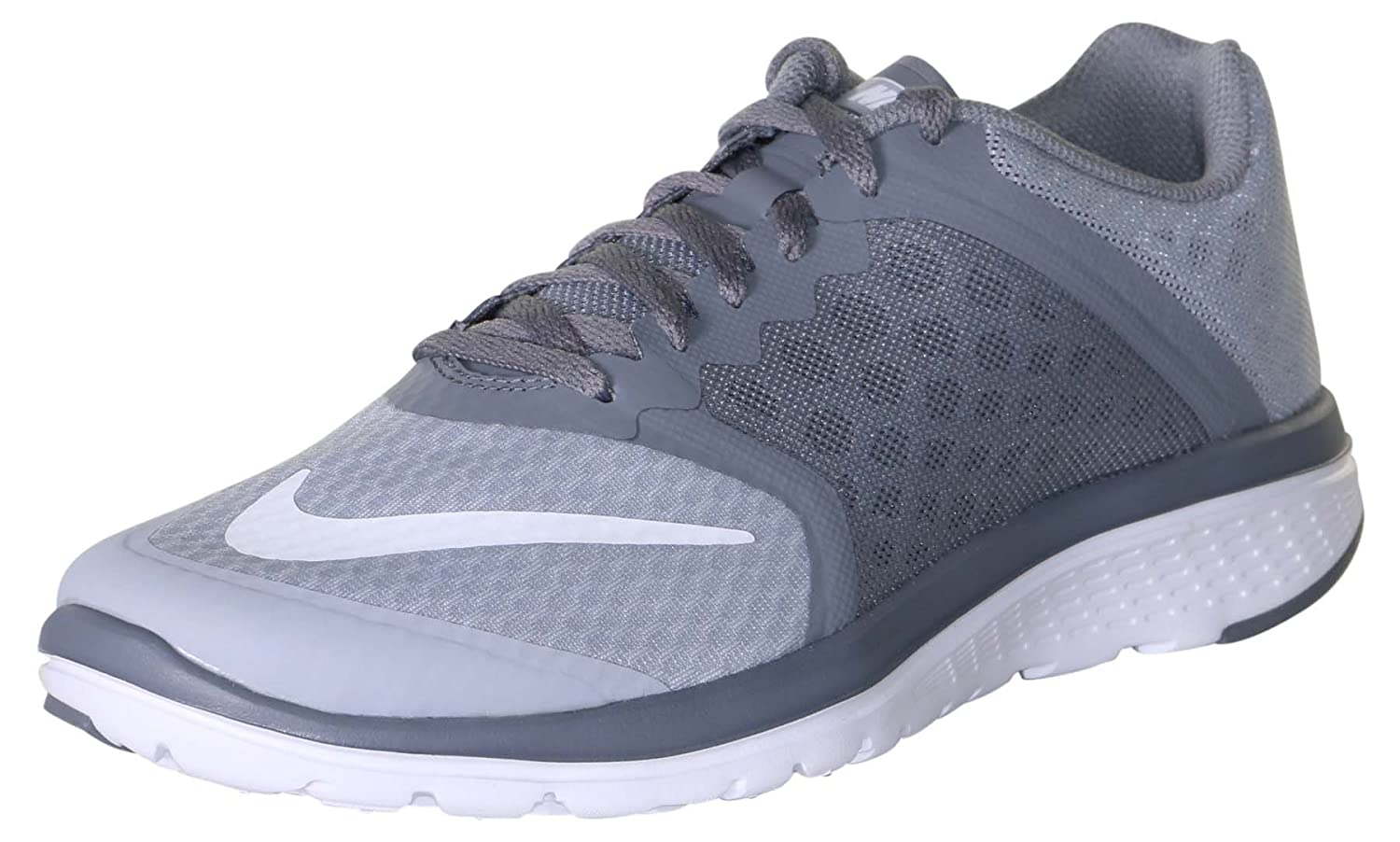 0a23dd5a35a Nike Men s FS Lite Run 3 Wolf Grey White Cool Grey Running Shoe 8 Men US   Buy Online at Low Prices in India - Amazon.in