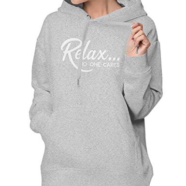 50d24f57a Amazon.com: Women's Pullover Hoodie, Relax No One Cares Long-Sleeved Pullover  Hooded with Pocket: Clothing