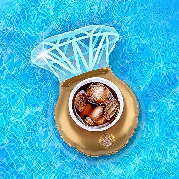 Wuxi Chuannan Posavasos Hinchable para Piscina, Diseño de Anillo de Diamante, para Piscina, Fiesta, Piscina, Juguetes de Baño y Ducha, Diamond, ...