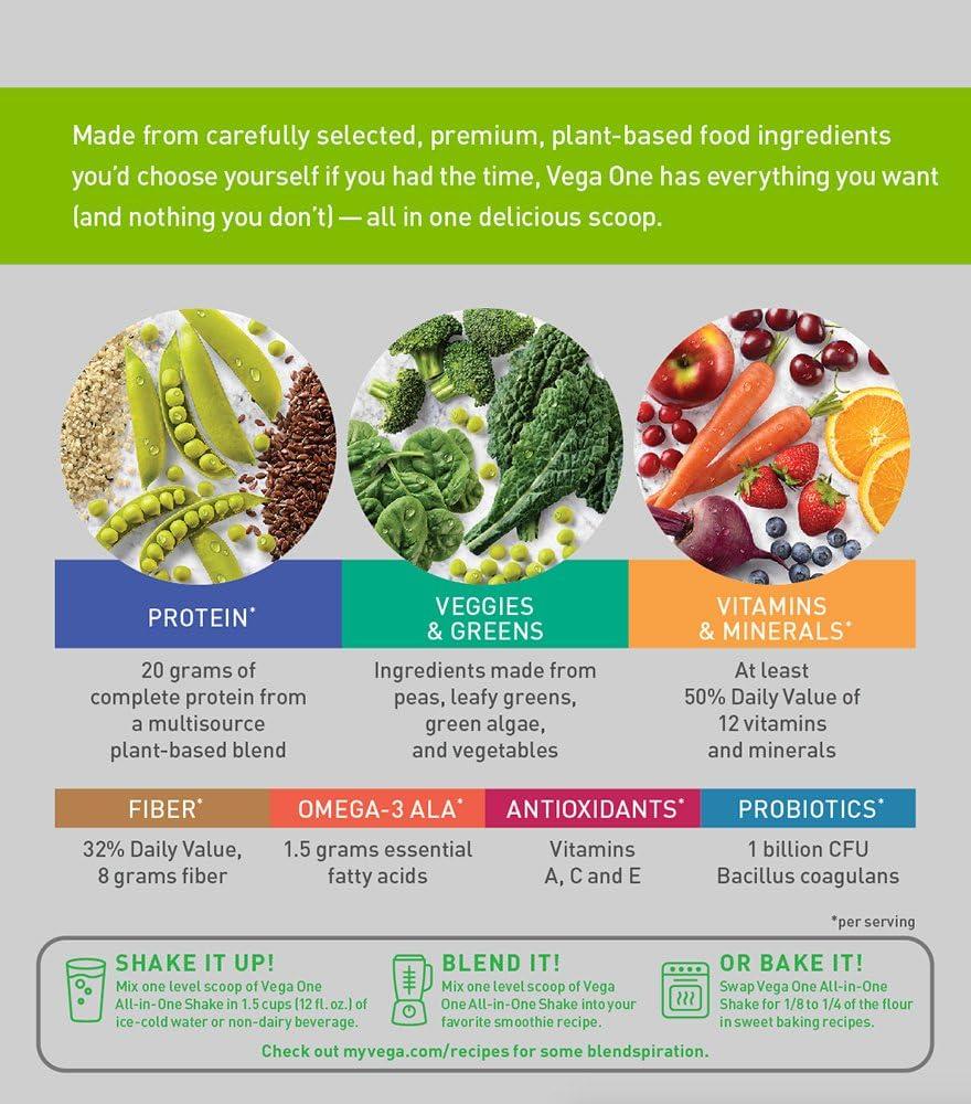 Vega One Chocolate - 827 gr: Amazon.es: Salud y cuidado personal