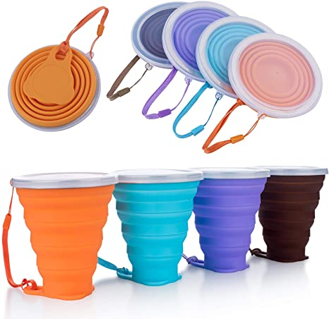 Stylish Collapsible Silicone Folding Retractable Mug Cup Portable For Outdoor