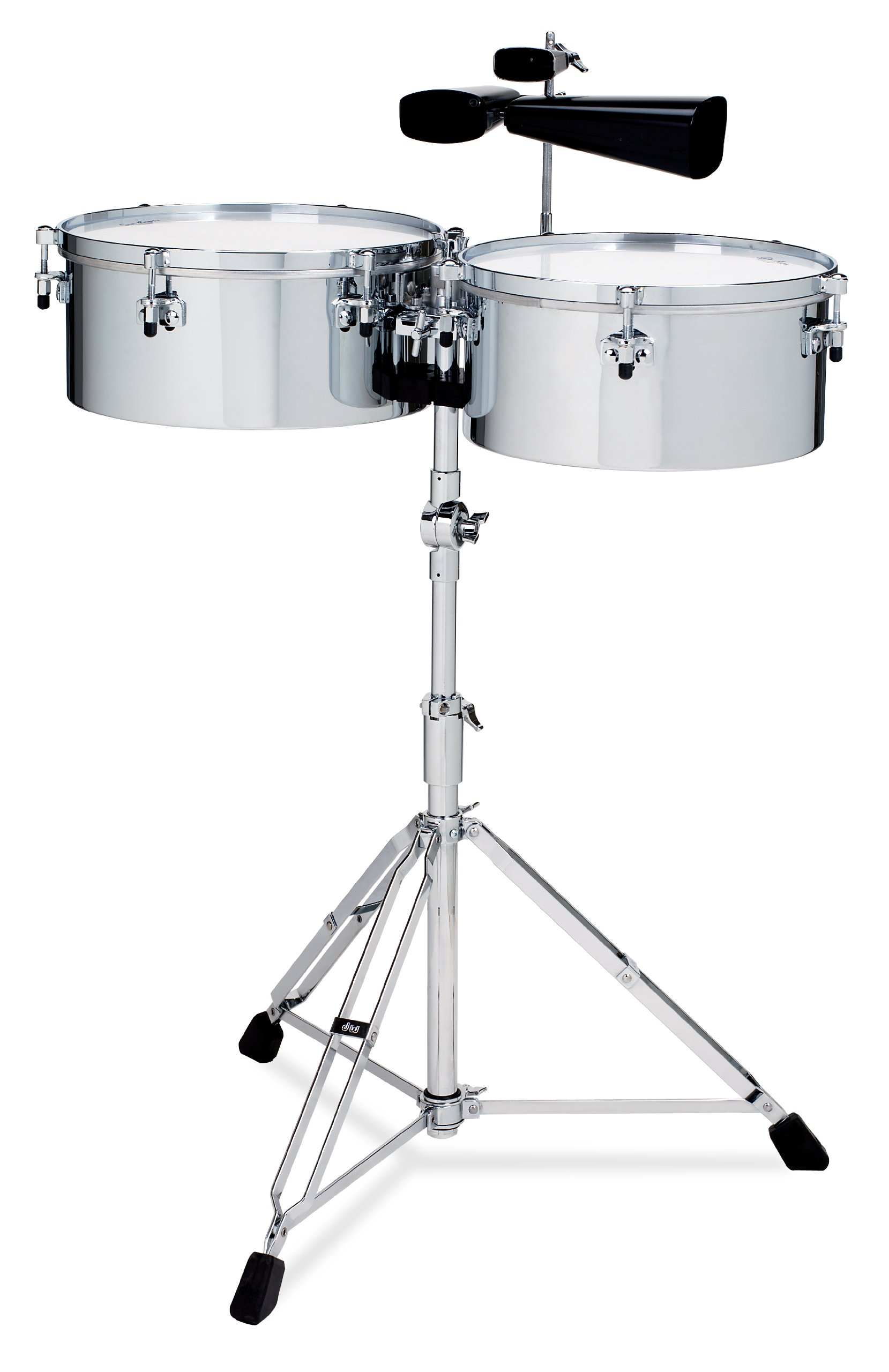 Gon Bops Tumbao Series Timbales, Chrome Over Steel by Gon Bops