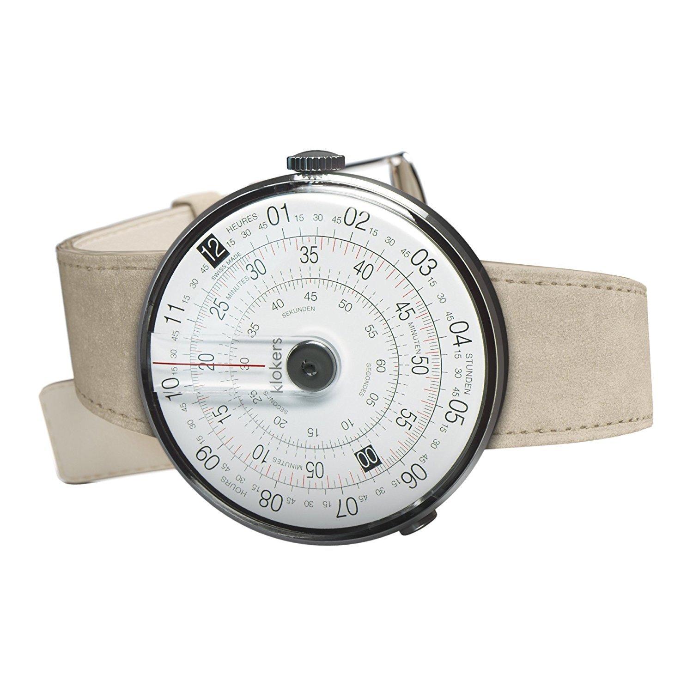 [クロッカーズ]Klokers ダイヤルポイントカラー ブラック 腕時計 KLOK-01-D2と腕時計用ベルト アルカンターラグレイMC6セット【正規輸入品】 B071F3GTKY