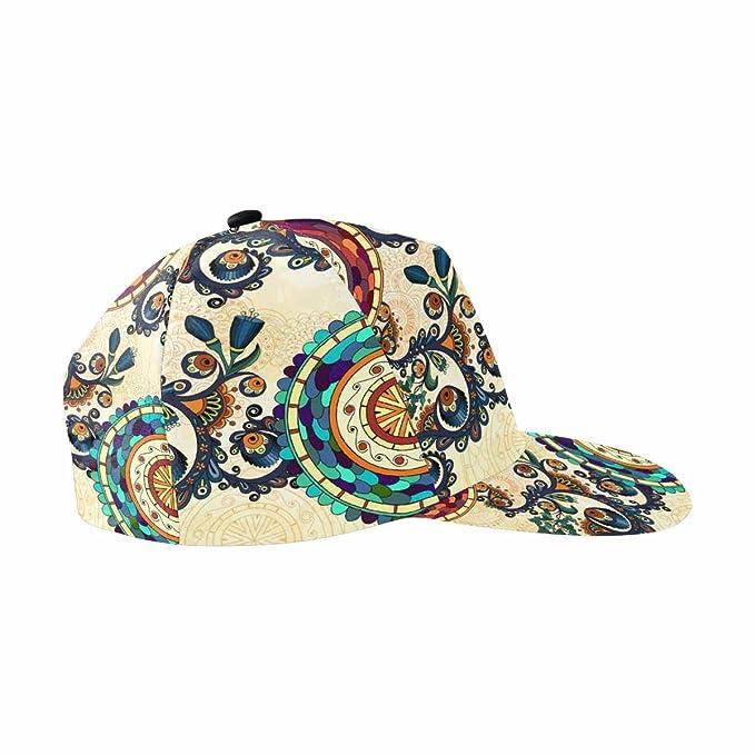 4c5c95ce14029 INTERESTPRINT Floral Decorative Paisley Adjustable Baseball Cap Hat ...