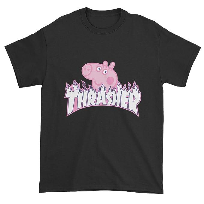 d18d01870c9c Amazon.com: Thrasher Peppa Pig T-Shirt: Clothing